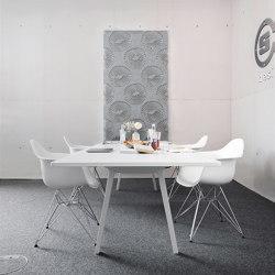 recycled greenPET I designed acoustic divider air coral | Objets acoustiques | SPÄH designed acoustic