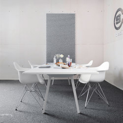 recycled greenPET I designed acoustic divider air dots   Sound absorbing objects   SPÄH designed acoustic