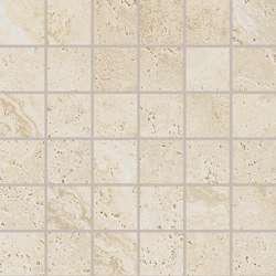 Unique Travertine Mosaico 5x5 Cream | Ceramic mosaics | EMILGROUP