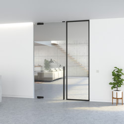 Portapivot GLASS | Single door + fixed partition | Internal doors | PortaPivot