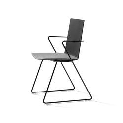 batch Kufenstuhl sitzgepolstert, mit Armlehne   Stühle   Wiesner-Hager