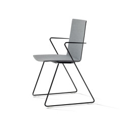 batch sled base chair with armrest, upholstered   Chairs   Wiesner-Hager