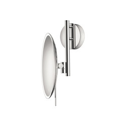cosmetic mirrors | Wall mounted magnifying mirror x5 with LED | Bath mirrors | SANCO