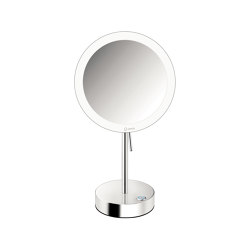 cosmetic mirrors | Wall mounted magnifying mirror x4 with LED | Bath mirrors | SANCO
