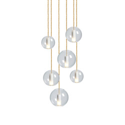 Moon Clear Chandelier | Suspended lights | NUD Collection