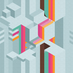 Tetriso | Carta parati / tappezzeria | Inkiostro Bianco