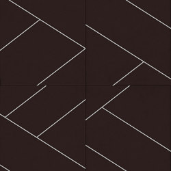 LE MANS Layout C Velluto Testa di Moro | Leather tiles | Studioart