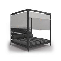 Lodge Cabana Aluminium Back with Screens (Poolside Coal) | Lettini / Lounger | Gloster Furniture GmbH