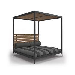 Lodge Cabana Teak Back & Roof (Poolside Coal) | Lettini / Lounger | Gloster Furniture GmbH