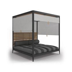 Lodge Cabana Teak Back with Screens (Poolside Coal) | Lettini / Lounger | Gloster Furniture GmbH
