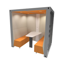 Container Box with Solid Back Panel | Office Pods | The Meeting Pod