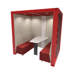Container Box with Solid Back Panel   Office Pods   The Meeting Pod