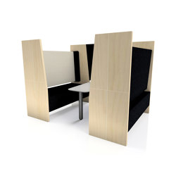 Part Enclosed Meeting Booth | Sound absorbing architectural systems | The Meeting Pod