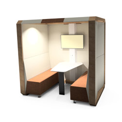 Meeting Box with Solid Back Panel | Office Pods | The Meeting Pod