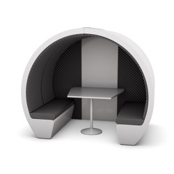 4 Person Meeting Pod with Acoustic Back Panel | Office Pods | The Meeting Pod