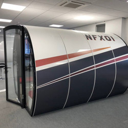8 Person Meeting Pod with Front Glass Enclosure and Glass Back Panel | Office Pods | The Meeting Pod