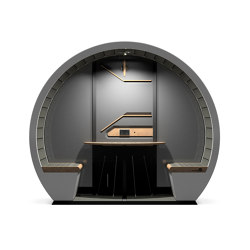 2 Person Outdoor Pod with Back Panel | Office Pods | The Meeting Pod