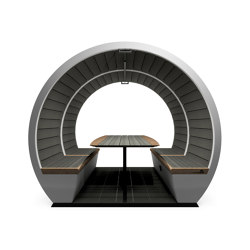 4 Person Open Outdoor Pod | Office Pods | The Meeting Pod
