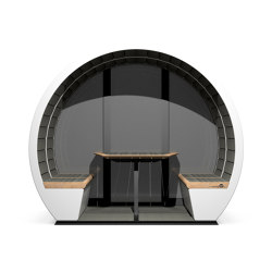 4 Person Outdoor Pod with Back Panel | Office Pods | The Meeting Pod