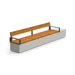 Log 360 Double Backrest Armrests | Bancos | Durbanis