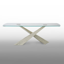 Living Glass Top Table | Dining tables | Riflessi