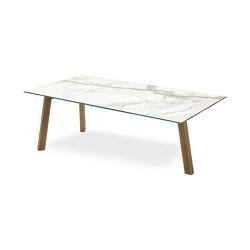 Treble Tavolo Piano Ceramica | Tavoli pranzo | Riflessi