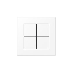 A 550 | F40 Push-button sensor 4-gang matt snow white | Push-button switches | JUNG