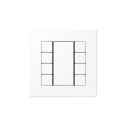 A 550 | F50 Push-button sensor 8-gang matt snow white | Push-button switches | JUNG