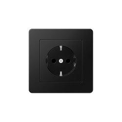 A Flow | SCHUKO-Socket matt graphite black | Schuko sockets | JUNG