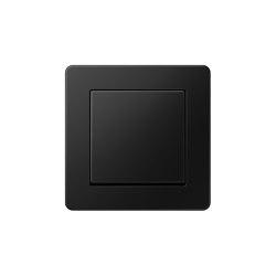 A Flow | switch matt graphite black | Push-button switches | JUNG