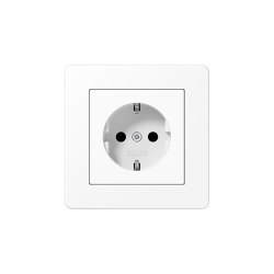 A Flow | SCHUKO-Socket matt snow white | Schuko sockets | JUNG