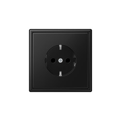 LS 990 | SCHUKO-Socket matt graphite black | Schuko sockets | JUNG