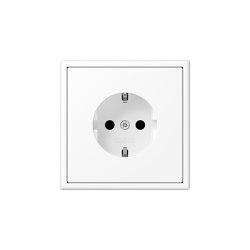 LS 990 | SCHUKO-Socket matt snow white | Schuko sockets | JUNG