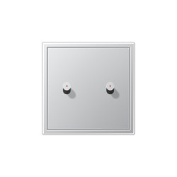 LS 1912 | with indicator lamp aluminium  two toggle lever cube | Toggle switches | JUNG