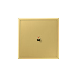LS 1912 | with indicator lamp classic brass one toggle lever cylinder | Toggle switches | JUNG