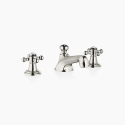 Madison - Three-hole basin mixer with pop-up waste - platinum   Wash basin taps   Dornbracht