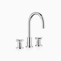 Tara. - Three-hole basin mixer with pop-up waste | Wash basin taps | Dornbracht