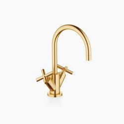 Tara. - Single-hole basin mixer with pop-up waste - brushed Durabrass | Wash basin taps | Dornbracht