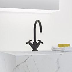 Tara. - Mélangeur de lavabo monotrou avec garniture d'écoulement - noir mat | Robinetterie pour lavabo | Dornbracht