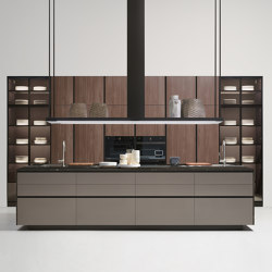 Thea, Layout 04 | Fitted kitchens | Arclinea