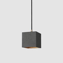 [B1] dark Concrete & Gold - Silver - Copper | Suspended lights | GANTlights