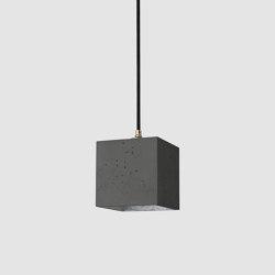 [B1] dark Concrete & Gold - Silver - Copper   Suspended lights   GANTlights