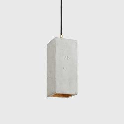 [B2] Concrete & Gold - Silver - Copper | Suspended lights | GANTlights