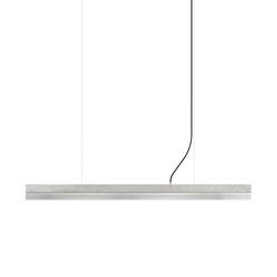 [C1] Concrete & Stainless Steel (L122cm) | Suspended lights | GANTlights