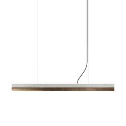 [C1] Concrete & Walnut (L122cm) | Suspended lights | GANTlights