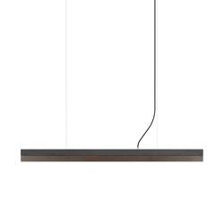 [C1] dark Concrete & Corten Steel (L122cm) | Suspended lights | GANTlights