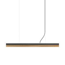 [C1] dark Concrete & Oak (L122cm) | Suspended lights | GANTlights