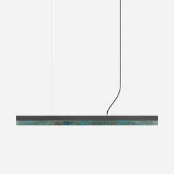 [C1] dark Concrete & Oxidised Copper (L122cm) | Suspended lights | GANTlights