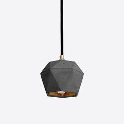 [T2] dark Concrete & Gold - Silver - Copper | Suspended lights | GANTlights