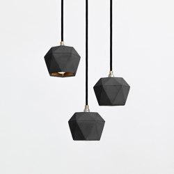 [T2] dark set Concrete & Gold - Silver - Copper | Suspended lights | GANTlights